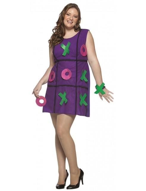 Noughts Crosses Plus Size Games Dress Costume Fancy Dress Castle