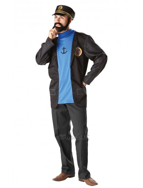 Captain Haddock , Jacket with attached jumper, false beard
