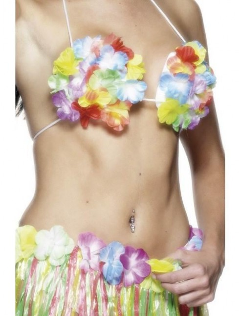 Hawaiian Flowered Bra
