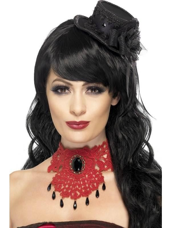 Gothic Vamp Lace Choker