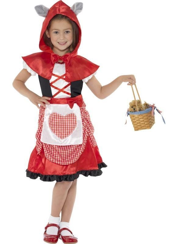 Miss Hood Red Riding Hood Girls Costume
