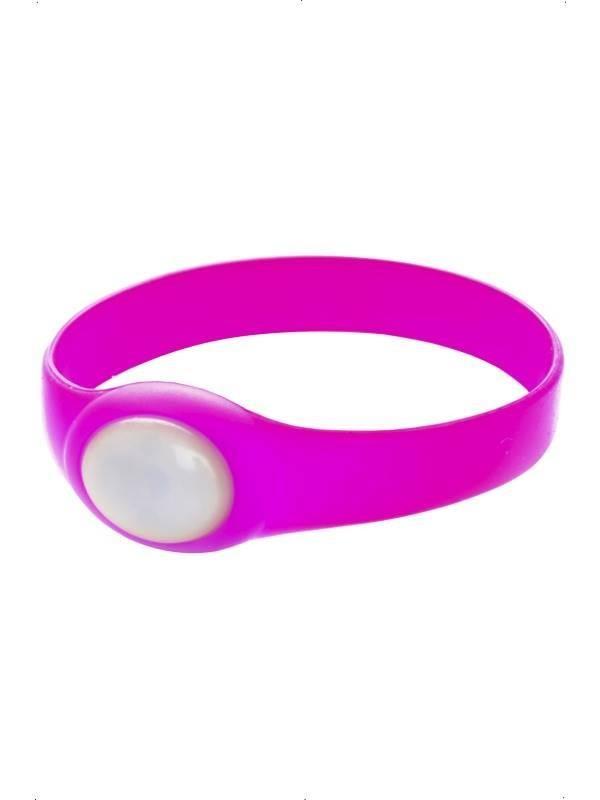Rubber Bracelet, with Flashing LED Light