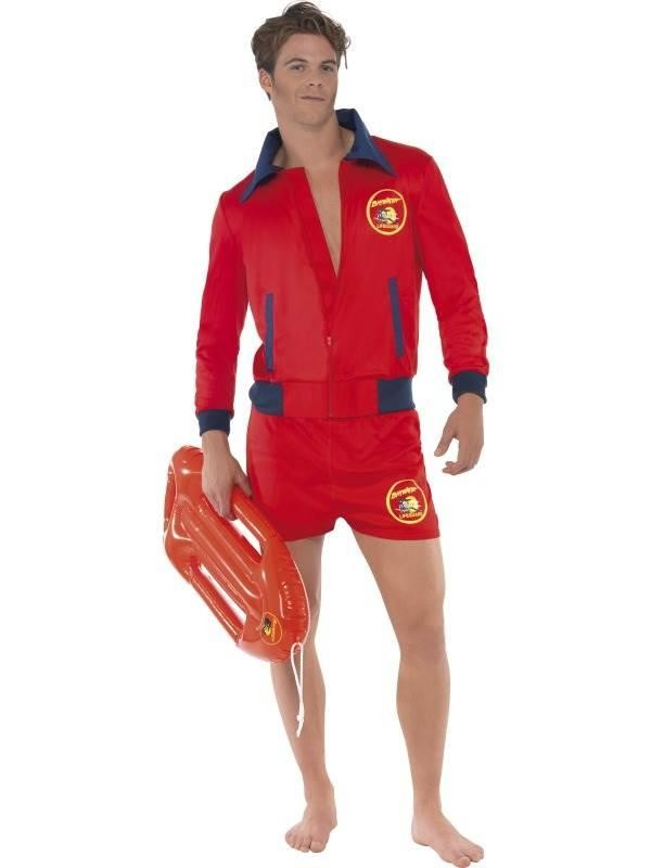 Men's Baywatch Lifeguard Costume for Adults - Medium 38 - 40