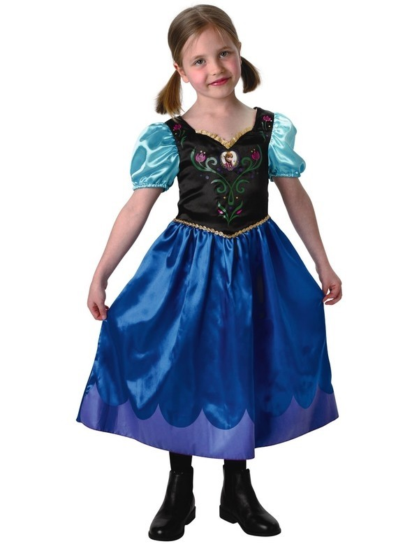 Travelling Classic Anna Frozen Costume Dress Up for Girls