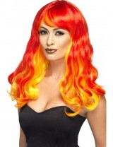 Ladies Ombre Devil Flame Wig