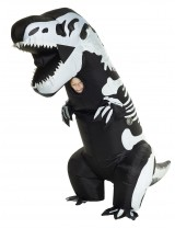 Giant Skeleton T-Rex Inflatable Costume
