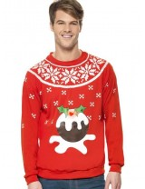Light Up Christmas Pudding Jumper