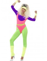 Ladies 80's Work Out Costume, with Jumpsuit