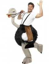 Ostrich Costume with Fake Hanging Legs