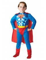 Boys Metallic Chest Superman Costume