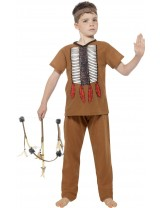 Native American Inspired Warrior Kids Costume