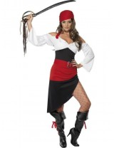 Sassy Pirate Wench Costume with Skirt