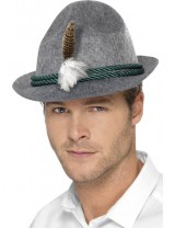 Mens German Trenker Hat with Feather