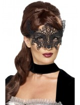 Ladies Embroidered Lace Filigree Swirl Eyemask