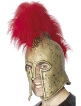 Roman Armour Helmet, Gold and Red