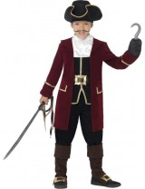 Boys Deluxe Pirate Captain Costume, with Jacket