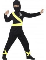 Ninja Assassin Costume , Black & Yellow