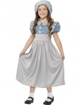 Grey Victorian School Girl Costume