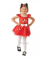 Girls Minnie Mouse Red Ballerina Costume