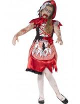 Girls Zombie Miss Hood Costume