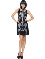 Ladies Skeleton Bone Costume