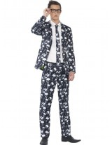 Boys Skeleton Suit with Jacket Costume