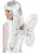 Angel Glitter Wings, White and Silver