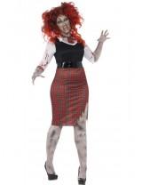 Ladies Curves Zombie School Girl Costume