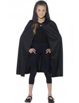 Long Black Hooded Cape