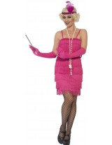 Ladies Pink Flapper Costume