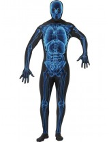 Mens X Ray Costume Second Skin Suit