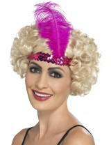 Pink Flapper Headband