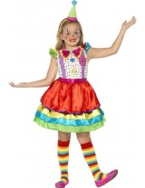 Girls Deluxe Clown Girl Costume