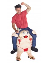 Fat Stipper Piggyback Costume Adult