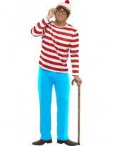 Mens Where's Wally? Costume