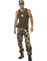 Khaki Camo Costume, Male