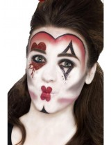 Girls Queen Of Hearts Make Up Kit, with Face Paints