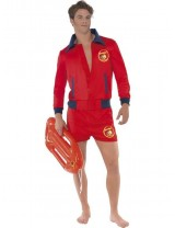 Men's Baywatch Lifeguard Costume for Adults - Medium 38 - 40
