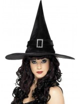 Witch Hat with Diamante Buckle