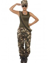 Khaki Camo Costume, Female