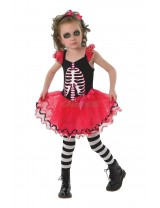 Girls Skull Tutu Costume