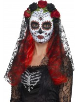 Day of the Dead Senorita Mask Full Face
