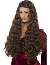 Ladies Medieval Princess Wig