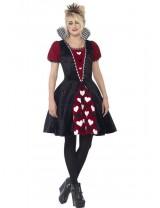 Girls Deluxe Dark Red Queen Costume