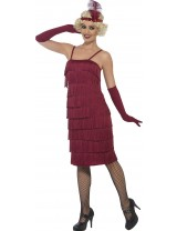 Womens Red Flapper Costume