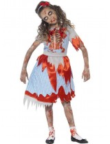 Girls Zombie Country Girl Costume