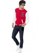 Mens 50's College Jock Letterman Jacket Costume