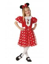 Girls Red Glitz Minnie Mouse Costume